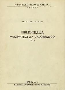 Bibliografia województwa radomskiego 1976
