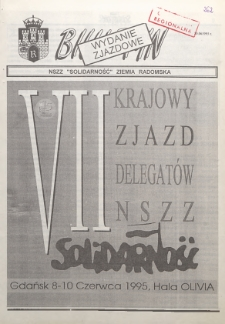 "Biuletyn NSZZ ""Solidarność"" Ziemia Radomska, 1995, nr 262"