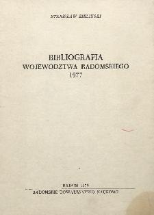 Bibliografia województwa radomskiego 1977