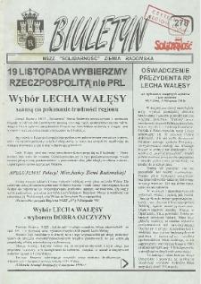 "Biuletyn NSZZ ""Solidarność"" Ziemia Radomska, 1995, nr 278"