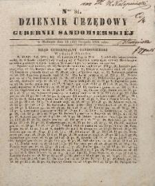 Dziennik Urzędowy Gubernii Sandomierskiej, 1844, nr 34