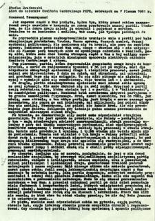 List do członków Komitetu Centralnego PZPR, zebranych na V Plenum 1981 r.