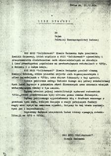 List otwarty do Sejmu Polskiej Rzeczpospolitej Ludowej, z dnia 1 grudnia 1980 r.