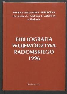 Bibliografia Województwa Radomskiego 1996
