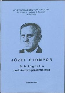 Józef Stompor : Bibliografia podmiotowo-przedmiotowa