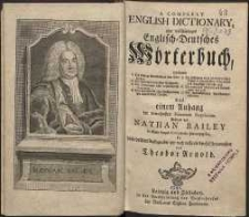 A complet English dictionary : oder Vollständiges English-Deutsches Wörterbuch [...]. 3. Aufl.