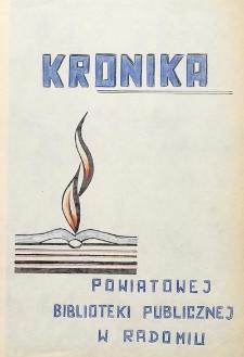 Kronika Powiatowej Biblioteki Publicznej w Radomiu 1945-1967