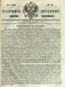 Dziennik Urzędowy Gubernii Radomskiej, 1863, nr 47