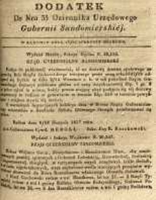 Dziennik Urzędowy Gubernii Sandomierskiej, 1837, nr 35, dod.