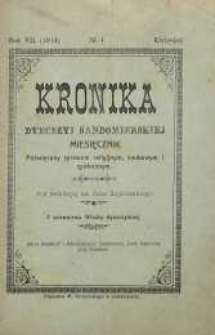 Kronika Diecezji Sandomierskiej, 1914, R. 7, nr 4