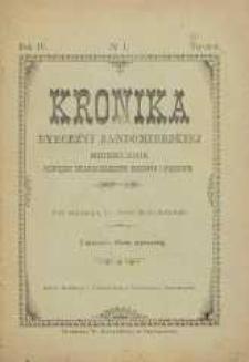 Kronika Diecezji Sandomierskiej, 1911, R. 4, nr 1