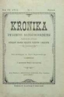 Kronika Diecezji Sandomierskiej, 1914, R. 7, nr 1