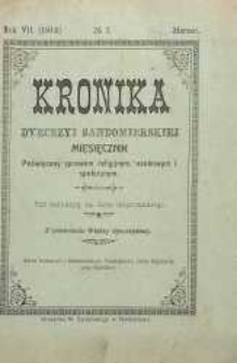 Kronika Diecezji Sandomierskiej, 1914, R. 7, nr 3