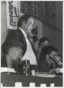[Lech Wałęsa na spotkaniu wyborczym w Radomiu]
