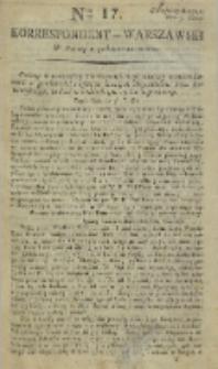 Korrespondent Warszawski, 1792, nr 17