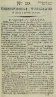 Korrespondent Warszawski, 1792, nr 20