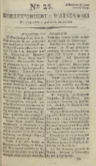 Korrespondent Warszawski, 1792, nr 25