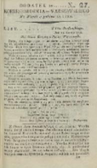Korrespondent Warszawski, 1792, nr 27, dod