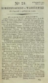 Korrespondent Warszawski, 1792, nr 28