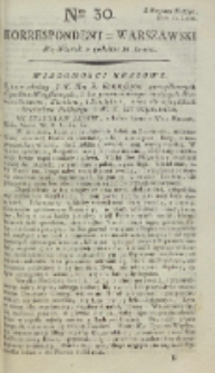 Korrespondent Warszawski, 1792, nr 30