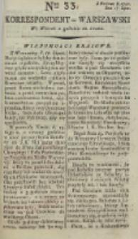 Korrespondent Warszawski, 1792, nr 33