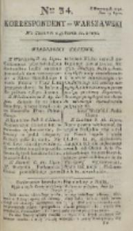 Korrespondent Warszawski, 1792, nr 34