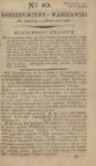 Korrespondent Warszawski, 1792, nr 40