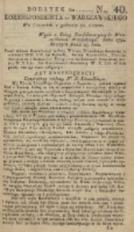 Korrespondent Warszawski, 1792, nr 40, dod