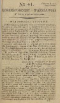 Korrespondent Warszawski, 1792, nr 41