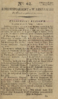 Korrespondent Warszawski, 1792, nr 42