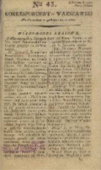 Korrespondent Warszawski, 1792, nr 43