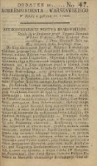 Korrespondent Warszawski, 1792, nr 47, dod