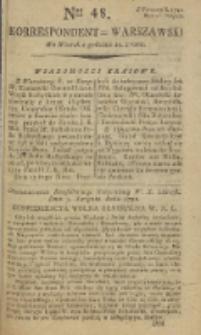 Korrespondent Warszawski, 1792, nr 48