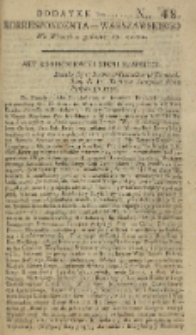 Korrespondent Warszawski, 1792, nr 48, dod