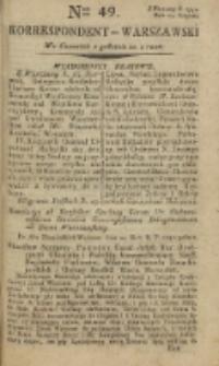 Korrespondent Warszawski, 1792, nr 49