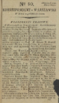 Korrespondent Warszawski, 1792, nr 50