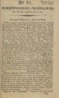 Korrespondent Warszawski, 1792, nr 51