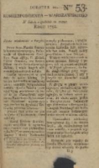 Korrespondent Warszawski, 1792, nr 53, dod