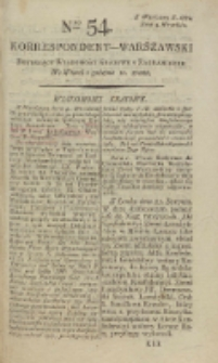 Korrespondent Warszawski, 1792, nr 54