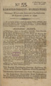 Korrespondent Warszawski, 1792, nr 55