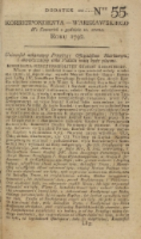 Korrespondent Warszawski, 1792, nr 55, dod