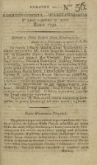Korrespondent Warszawski, 1792, nr 56,dod