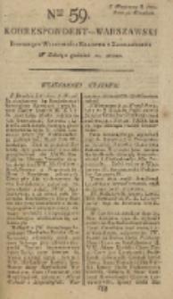 Korrespondent Warszawski, 1792, nr 59