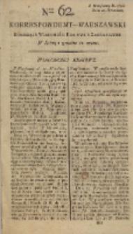 Korrespondent Warszawski, 1792, nr 62