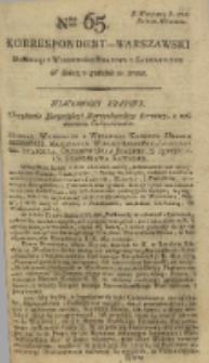 Korrespondent Warszawski, 1792, nr 65