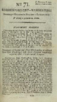 Korrespondent Warszawski, 1792, nr 71