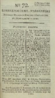 Korrespondent Warszawski, 1792, nr 72
