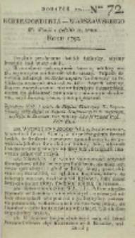 Korrespondent Warszawski, 1792, nr 72, dod