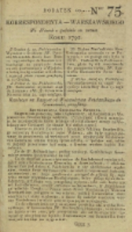 Korrespondent Warszawski, 1792, nr 75, dod