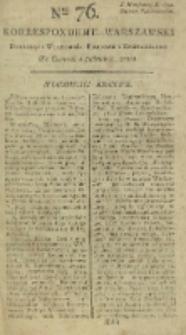 Korrespondent Warszawski, 1792, nr 76